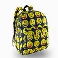 Para el Bolso de Escuela adolescentes negro Emoji Smiley bolsa 3D impresión Mujeres Mochilas de Lona Para Las Niñas Adolescentes Bolso Mochila