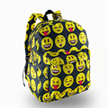 for teenagers School Bag black Emoji bag 3D printing Women Canvas Backpacks Smiley  For Teenagers Girls Shoulder Bag Mochila
