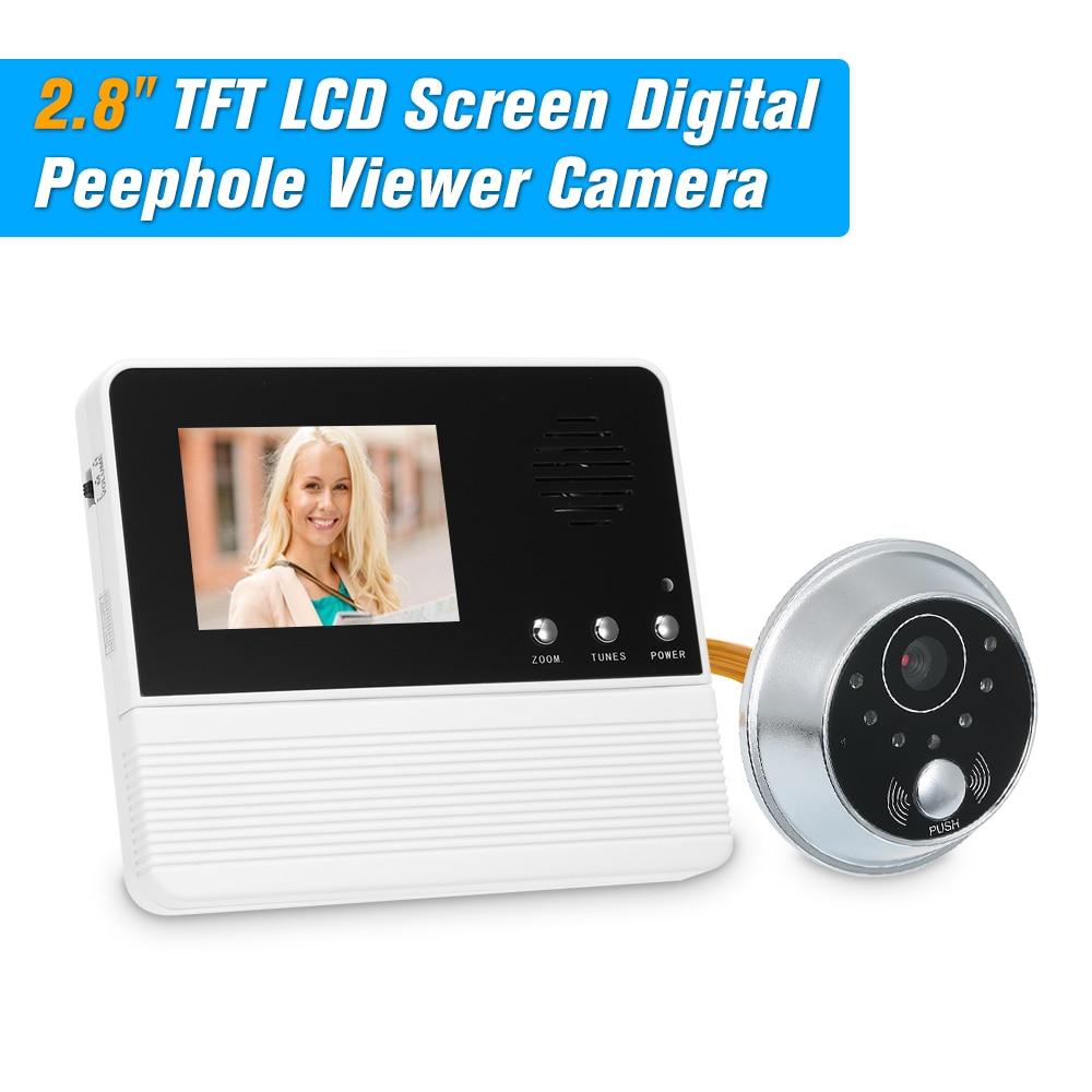 "2.8"" TFT LCD Screen Digital Eye Viewer Peephole Camera Door Monitor Electronic Digital Door Monitoring Home Security Doorbell"