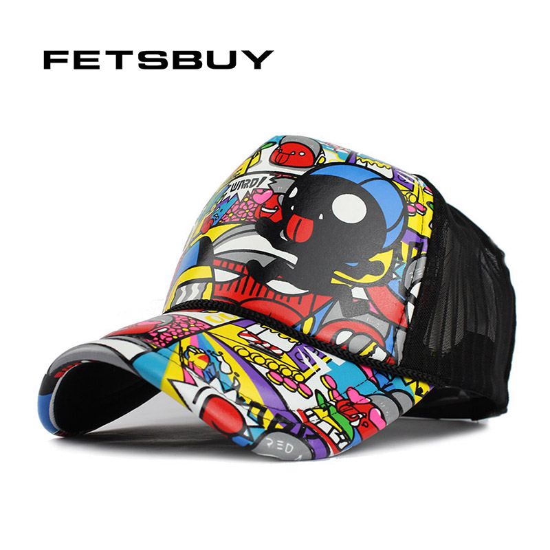 FETSBUY Unisex Summer Breathable Fashion Baseball Cap Hat Mesh Cap Baseball Hat Man Bone Women Fitted Hats For Men Sport Cap fashion cotton butterfly pattern lace hollow jacquard hats for women summer elastic thin soft breathable beanie skullies hat