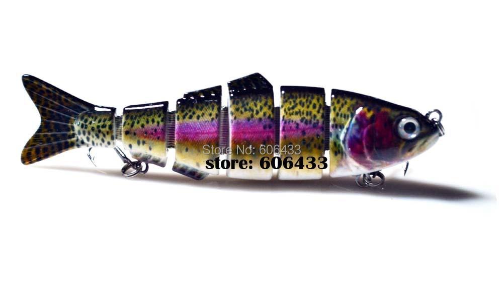 Deep Sea Multi section Lure Fishing Fish Swing Lures 6 Segment Swimbait Crankbait 12cm/24g 8024-FL6L01 Free shipping