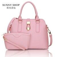 Christmas New Women Purse And Handbags Fashion Hasp Shell Women Messenger Bag White PU Leather Desigual