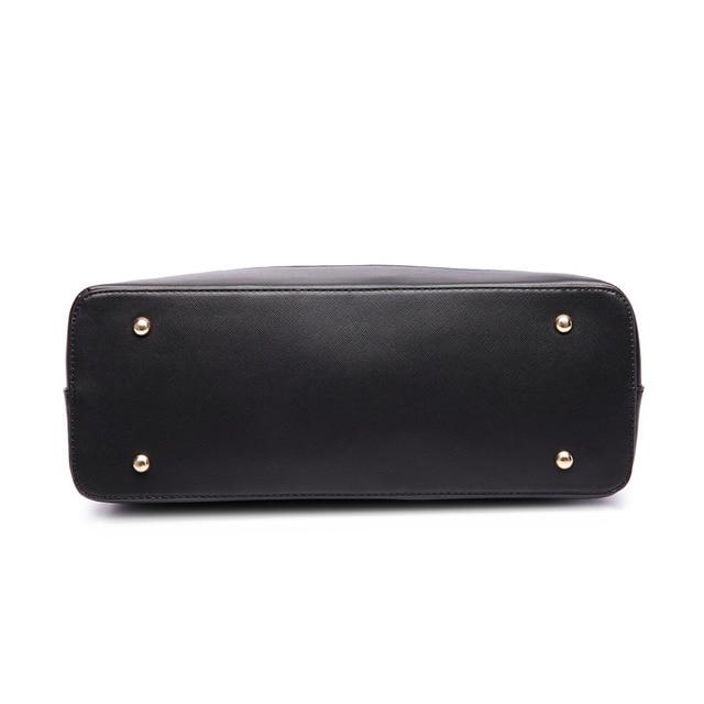 Miss Lulu New Fashion Women Patchwork PU Leather Handbag Shoulder Tote Hand Bag Cross Body Satchel 6617