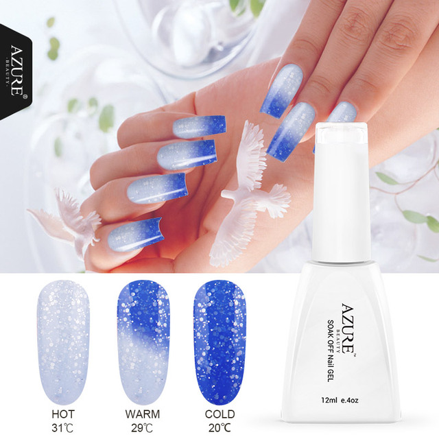 Azure Beauty Temperature Change Color Nail Gel Long Lasting Soak Off Uv Polish For