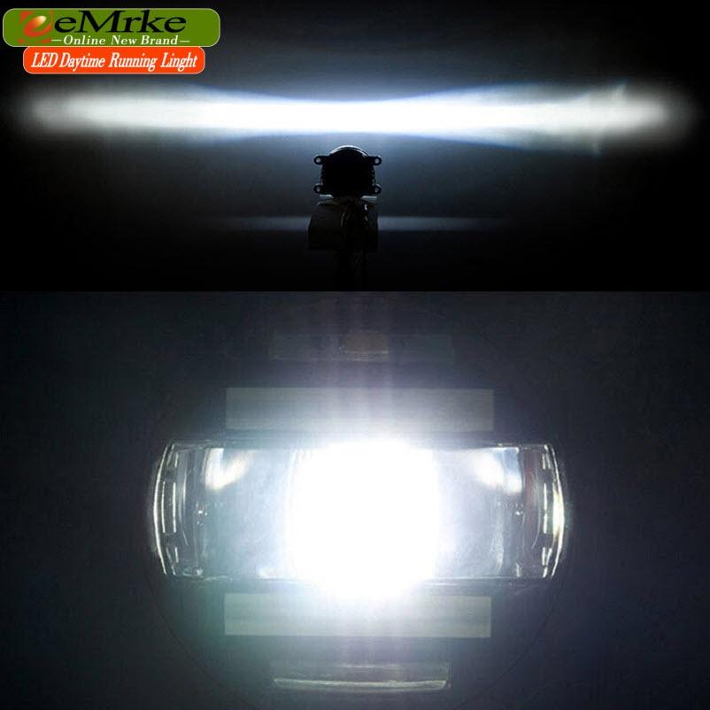 eeMrke Xenon White High Power 2in1 LED DRL - მანქანის განათება - ფოტო 6