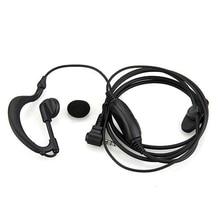 2015 Wholesale In-ear Imitated hook Headset Earphone Headphones for Walkie Talkie Radio Black new