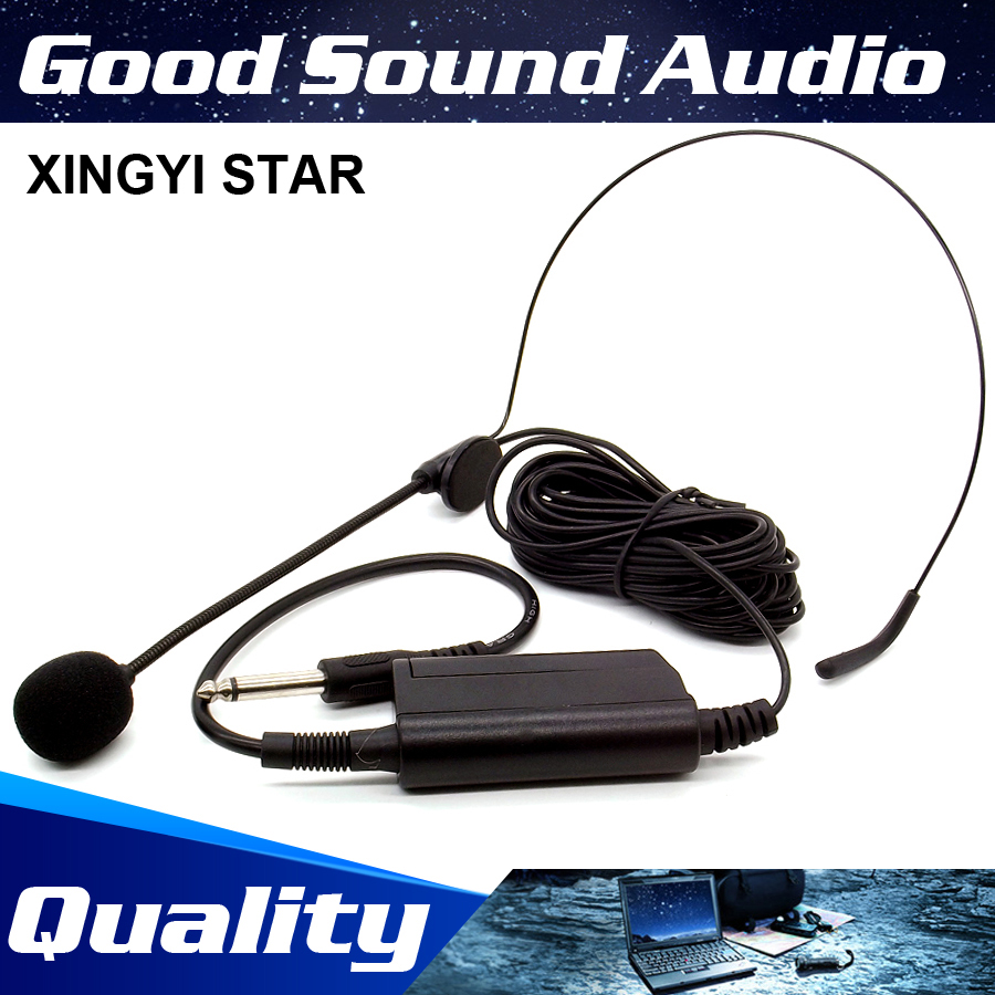 Professionale Wired Headworn Headset Microfono Head Mic per strumento musicale Flauto Speech Mixer Audio Karaoke Stage