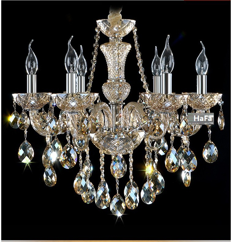 Modern Luxury Crystal Lamp Chandeliers lighting Lustre crystal light chandelier Room chandelier crystal lighting crystal home lighting indoor lamp room chandeliers modern crystal light chandelier luxury cognac color top k9 crystal 6 8 arm