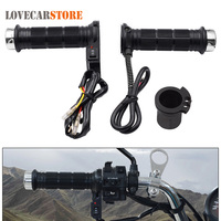 1 Pair 12V 25W 22MM Motorcycle Handlebar Motorbike Heating Grips Set Universal Adjustable Temperature Electric Heated