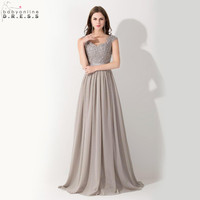Vestido de Festa Casamento Sexy Transparent Back Chiffon Lace Wedding Party Bridesmaid Dresses Robe Demoiselle D'honneur