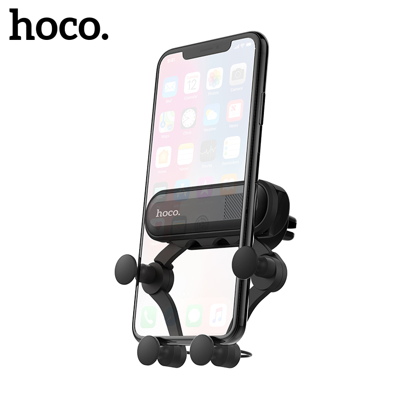 HOCO Gravity Car Phone Holder For Iphone X Xs Max Samsung S9 S10 In Car Air Vent Mount Car Holders For Xiaomi Huawei Phone Stand