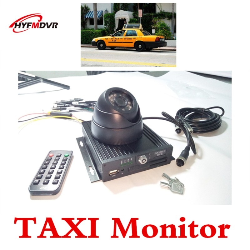 Taxi monitor host 4 channel set ahd coaxial video recorder English equipment NTSC camera taxi special ntsc mdvr ahd hd on board video recorder in support of english french
