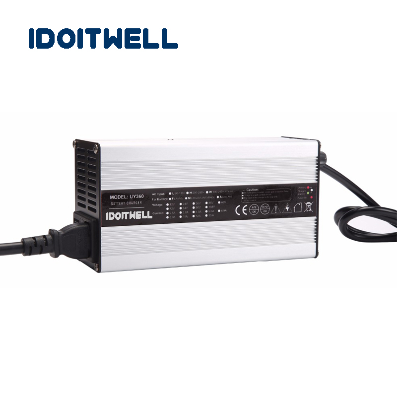 Customized 360W series 12V 20A 24V 12A 36V 8A 48V 6A 72V 4.5A battery charger for Lead acid or Lithium Li-ion or LifePO4 battery customized 2000w series 36v 40a 48v30a 60v 25a 72v 20a 84v 18a battery charger for lead acid or li ion lithium lifepo4 battery