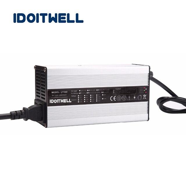 Chargeur de batterie adapté aux besoins du client de la série 360W 12V 20A 24V 12A 36V 8A 48V 6A 72V 4.5A pour la batterie au plomb ou au Lithium Li-ion ou LifePO4
