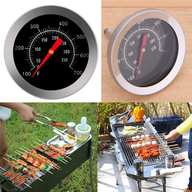 Temperature Gauge Gage Cooking Household Kitchen Food Temperature Probe ToolsStainless Steel BBQ Grill Meat Thermometer Dial