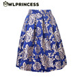 Z&KOZE 2016 New tutu Skirt Women's Fashion Casual High Waisted Skirts Ladies Vintage Gold Rose Blue Pleated Midi Skirts