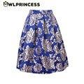 Z & KOZE 2016 Nueva Falda del tutú de Las Mujeres Casuales de La Moda de Talle Alto Faldas de Las Señoras de La Vendimia de Oro Rosa Azul Plisado Midi Faldas