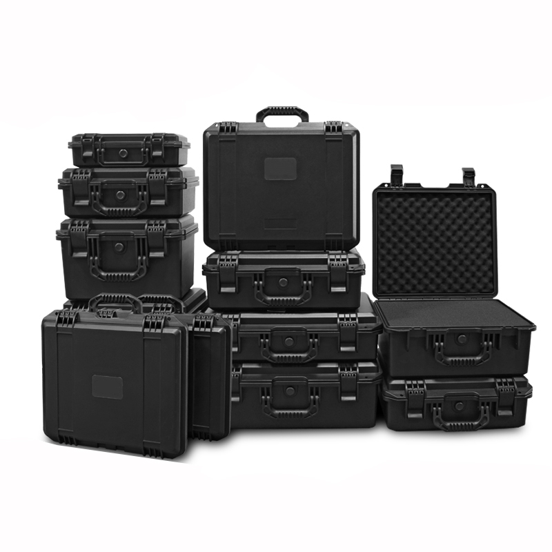 Tool Case Impact Resistant Safety Case Suitcase Toolbox File Box Equipment Camera Case with Pre-cut Foam Lining