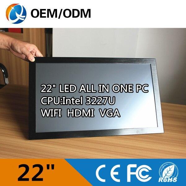 22 дюймов промышленного все в одном ПК с i3 Процессор/2 ГБ Оперативная Память 500 г HDD/1680 x 1050 планшетный ПК Установка Desktop/настенный/Embedde