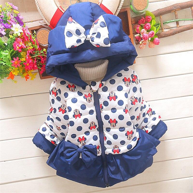 BibiCola children winter christmas Thicken outerwear parkas baby Girls snowsuit jacket coats kid cartoon warm hooded Jacket