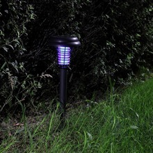 5 pieces. LED Solar Outdoor Lawn Lawn Anti Mosquito Insect Pest Zapper Assassin Capture Lanterns Lamp Burst Light Garden Deco