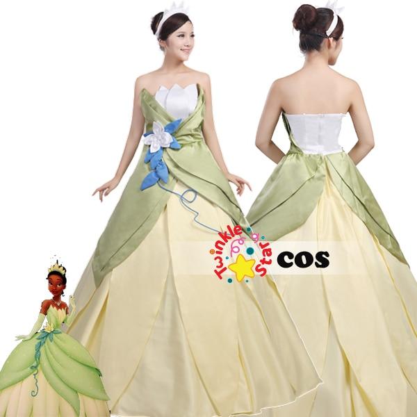 Princess Tiana Outfit: 2017 Halloween Costumes For Women Princess Tiana Adult