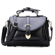 Classic Messenger Bag Belt Buckle Ornament Ladies Sweet Style Crossbody Bag Women PU Leather Handbag Fashion Simple Shoulder Bag