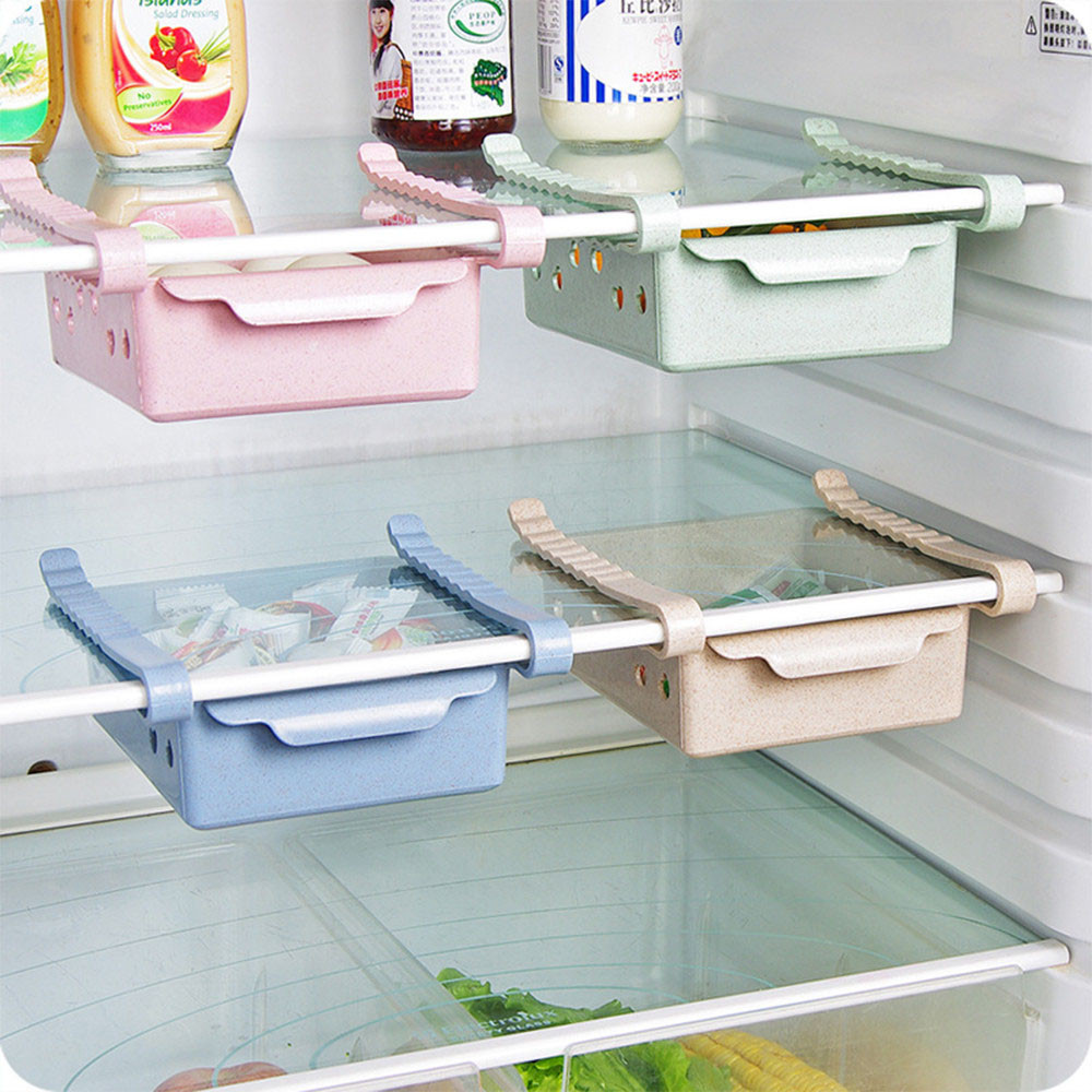 Us 2 22 44 Off Kitchen Storage Shelf Refrigerator Drawer Plate Layer Fridge Freezer Holder Pull Out Organiser E Saver In