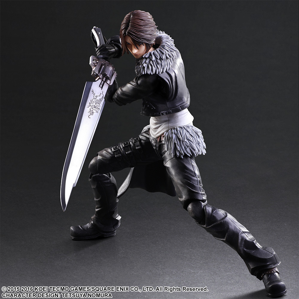 QICSYXJ High Quality Birthday Gift Supply FF Action Figure Collection 25cm PA Squall Leonhart Model Doll new hot 18cm one piece rob lucci cp9 action figure toys collection christmas gift doll no box