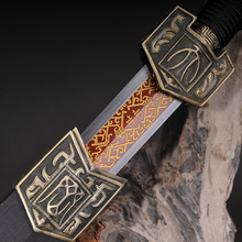 Chinese Sword Fully Handmade 1060 High Carbon Steel Red Full Tang Blade Collecation Sword Home Decoratoin Chinese Knife