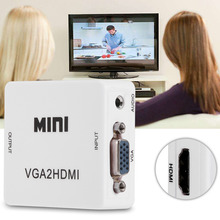Mini VGA to HDMI Converter 1080P VGA2HDMI Adapter For PC Laptop DVD to HDTV Projector With HDMI2VGA Converter