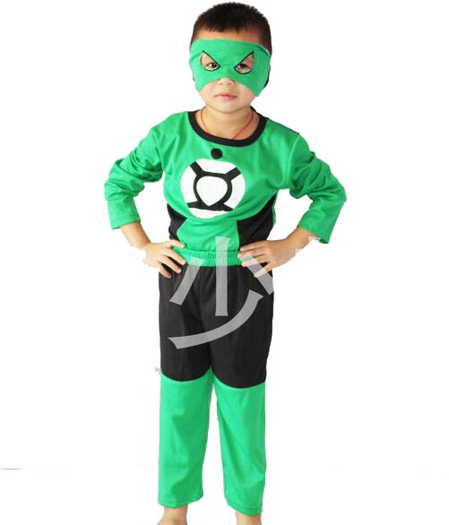Green Lantern Halloween Costume for Kids Boy Party Cosplay Clothing  Children Long Sleeve Clothing Set( - Compare Prices On Green Lantern Halloween Costumes- Online