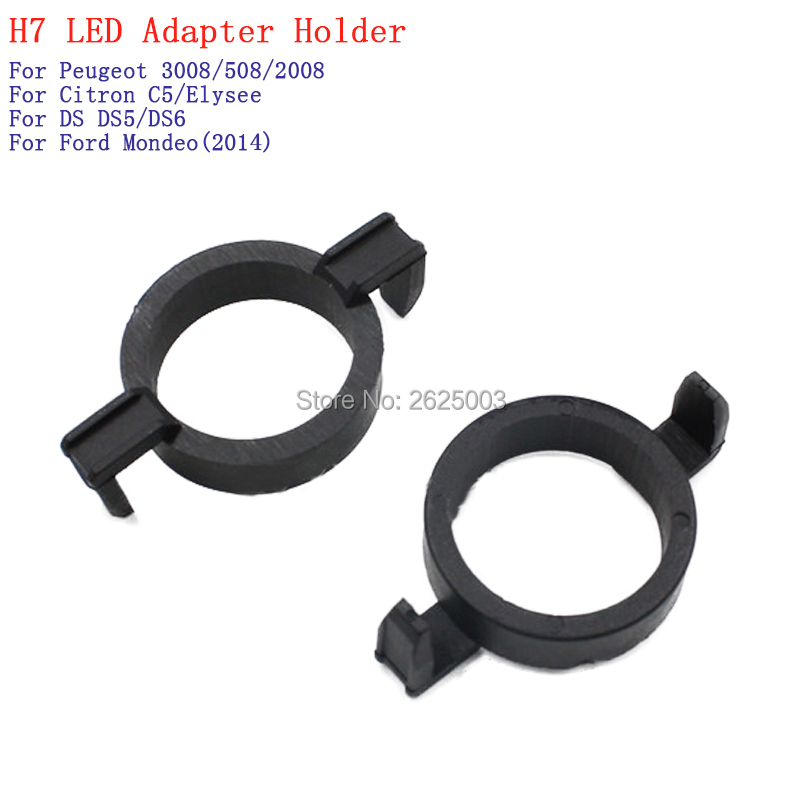 <font><b>H7</b></font> <font><b>LED</b></font> atapter adaptor clip retainer bulb holder for Ford Mondeo 2014 For <font><b>Peugeot</b></font> 3008 508 <font><b>2008</b></font> For Citron C5 Elysee DS DS5 DS6 image