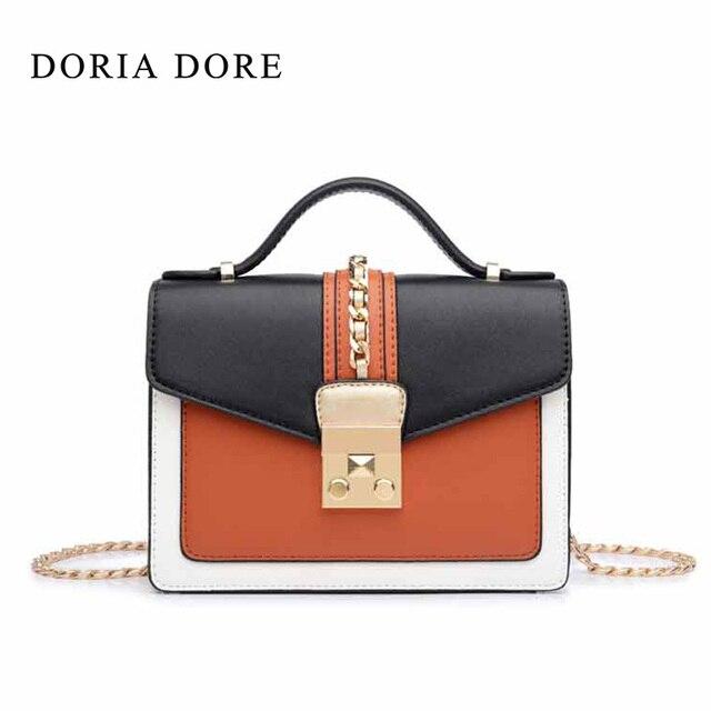 Doria Dore 2017 New Women Fashion Panelled Hasp Flap Bags Las Single Shoulder Pu Material