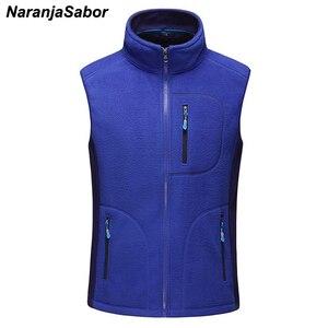 Image 4 - NaranjaSabor gilet chaud homme, vêtement décontracté sans manches en polaire, vêtements de marque