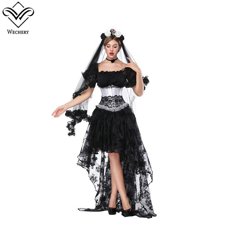 Corset Elástico Negro Sexy Victorian De Falda Manga Corta Faldas Traje Y Encaje Floral Tops Lace Conjunto Witchery Up vq8Zw