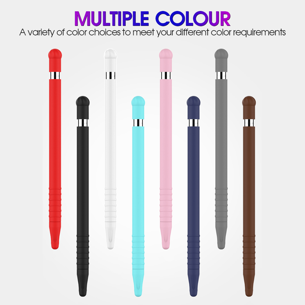 Colorful Soft Silicone Compatible For Apple Pencil 1 Generation Cover For IPad Tablet Touch Pen Stylus Protective Sleeve Shell
