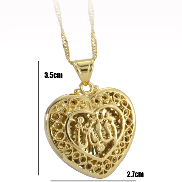 ALLAH MUSLIM heart shape fashion pendant & necklace for women & men, charm Islam Gift & Jewelry