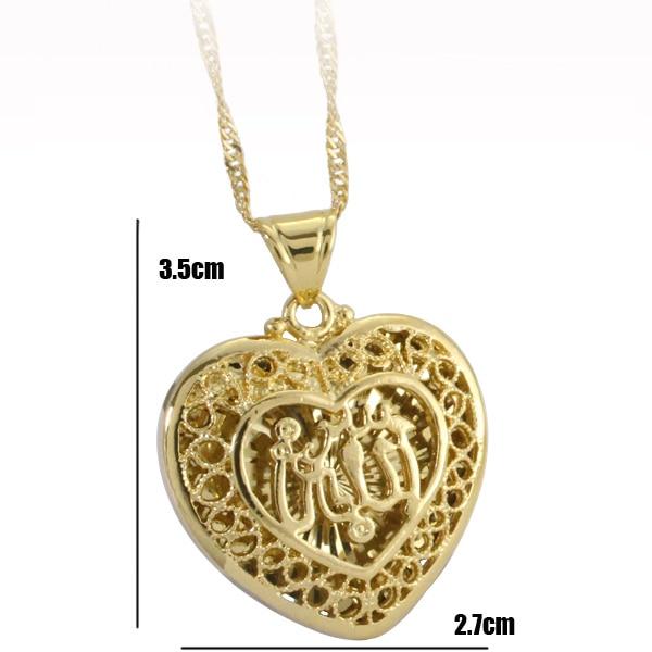 ALLAH MUSLIM heart shape fashion pendant & necklace for women & men, charm Islam Gift & Jewelry