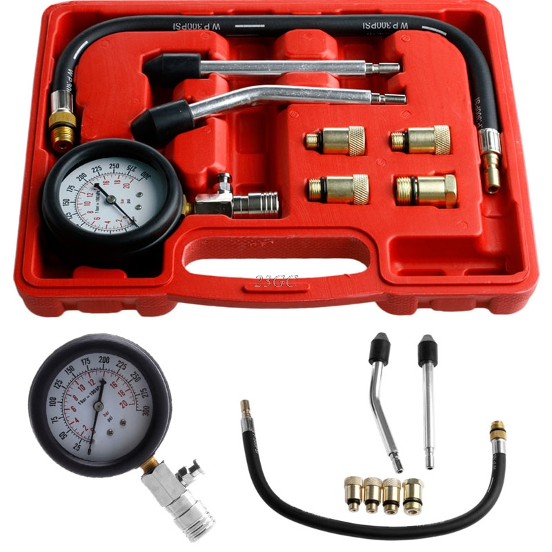 Petrol Compression Tester Gauge Motor Auto Engine Cylinder Kits JUN16_20