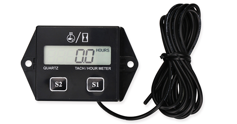 1PCS A Digital Display Device For Motorcycle Speed Timer Motorboat Engine Electronic Tachometer Hour Meter For Boat Car