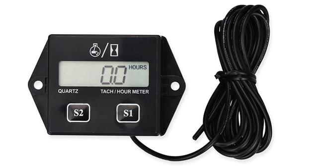 Tachometer With Hour Meter : Best v car lcd display hour meter motorcycle tachometer