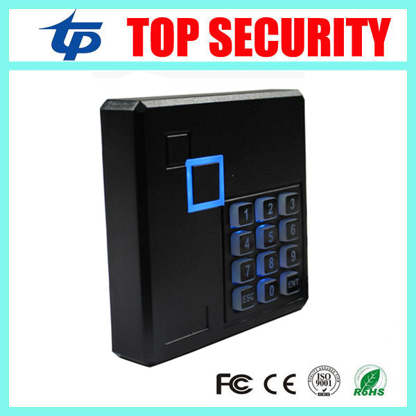 13.56MHZ Mi-fare card access control reader weigand26/34 IP65 waterproof smart card reader keypad EM card door control reader ip65 waterproof door access control card reader weigand26 125khz rfid color attention light em id card reader