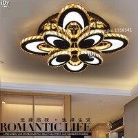 Овальный творческий спальня современный потолок минималистский гостиной лампы светодиодные кристалл потолочные светильники из нержавеющ