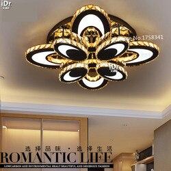 Owalna kreatywna sypialnia nowoczesna minimalistyczna lampa sufitowa do salonu kryształowe lampy sufitowe led ze stali nierdzewnej