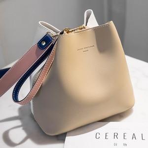 Image 1 - 2020 nowe markowe torebki damskie PU skórzane torby na ramię kubełkowe kobiece moda większa pojemność torby kurierskie typu crossbody Girls