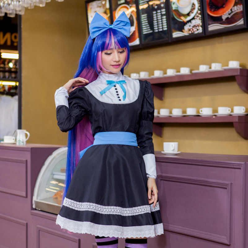 d2253ebc5cd ... Panty   Stocking with Garterbelt Dress anime Cosplay Costume women  grils Clothing skirt+headdress+ ...