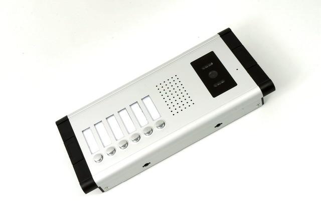 Yobang-téléphone vidéo pour 4-appartements   4 appartements, sécurité, 7 pouces, système dinterphone filaire couleur HD/téléphone de porte audio, pour 4 appartements