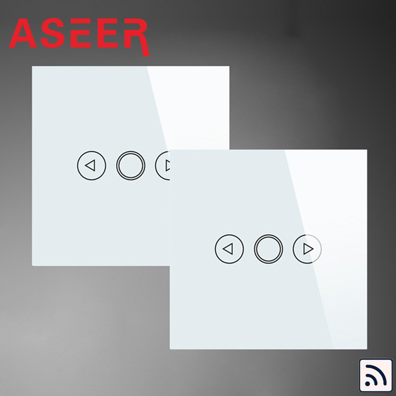 ASEER EU Standard 2Way Control light dimmer switch 500W Double Control Switches AC110 240V White Crystal