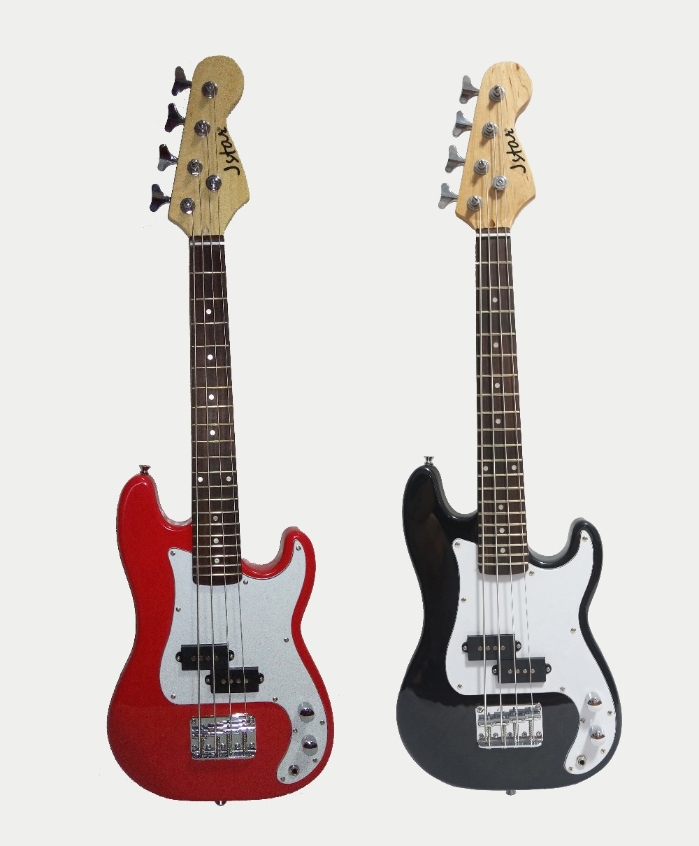 34'(86cm Full Length ) kids electric bass guitar child electric bass guitar PB kids jstar bass guitar ( Red / Black option) plastic speed control knobs for lp electric guitar bass black 2 pcs